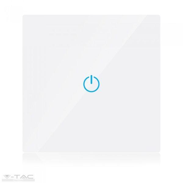 Fehér üveg váltókapcsoló - 8360