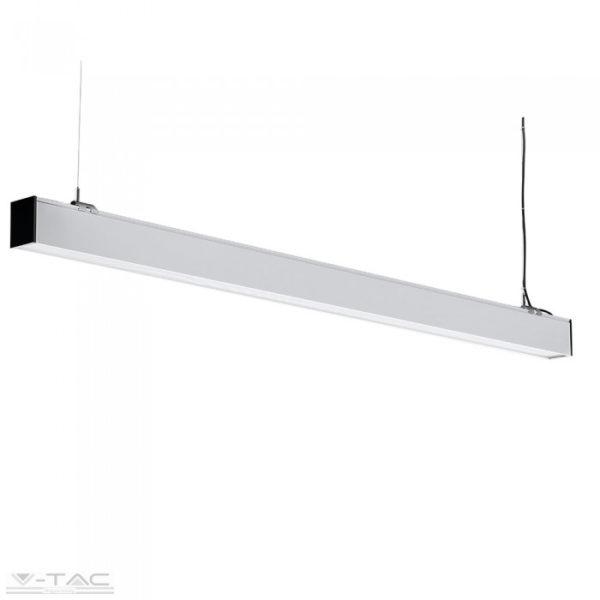 40W LED toldható lineár lámpatest sodronyos függesztékkel ezüst 4000K - PRO384
