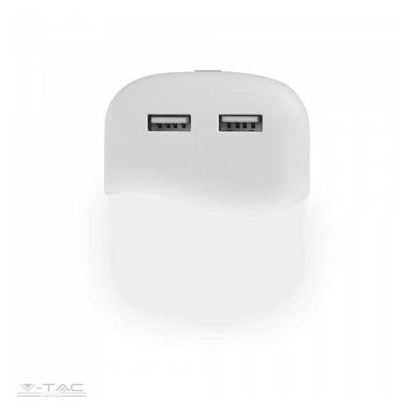 LED éjszakai fény 0,4 W beépített alkonykapcsolóval USB aljzattal 3000K - PRO507