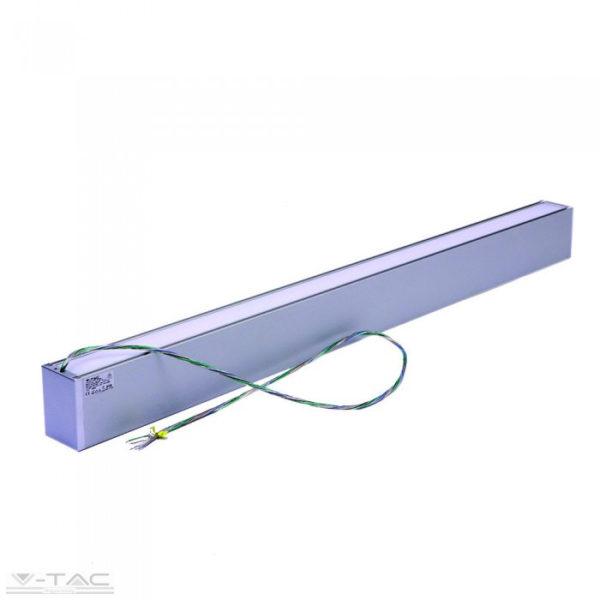 60W LED up and down slim lineár lámpatest sodronyos függesztékkel ezüst 4000K - PRO378