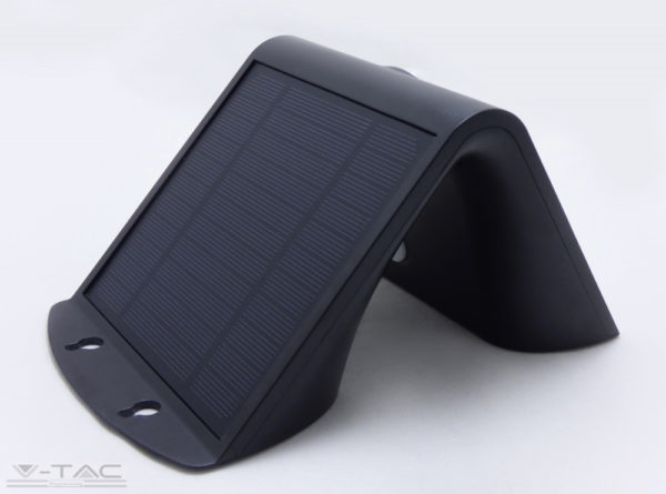 3W LED napelemes lámpa fekete - 7528