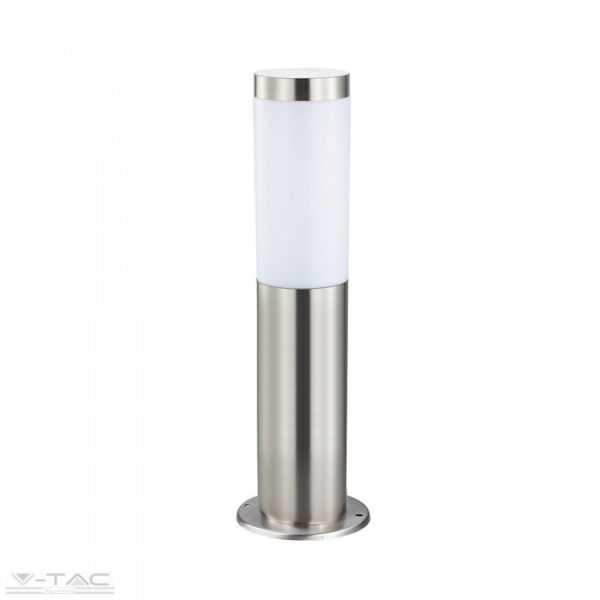 Ezüst rögzíthető álló lámpatest E27 foglalattal acél váz IP44 - 8625
