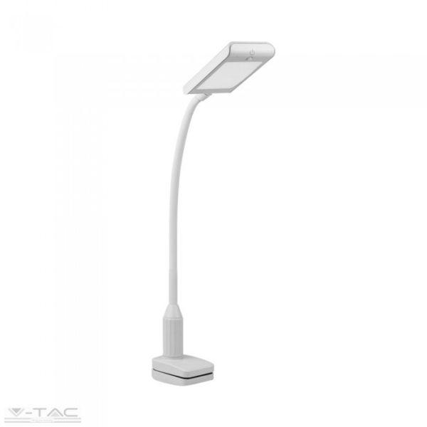 7W LED fehér csíptetős asztali lámpa 3000K - 8672