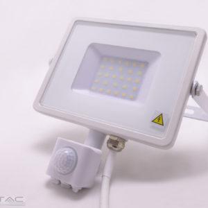 30W Mozgásérzékelős LED reflektor Samsung chip fehér IP65 4000K - PRO458
