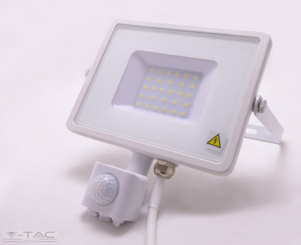 30W Mozgásérzékelős LED reflektor Samsung chip fehér IP65 6400K - PRO459