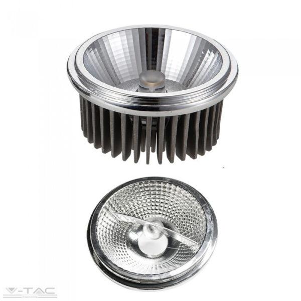 20W AR111 LED spotlámpa 40°/20° ezüst 4000K - 2793