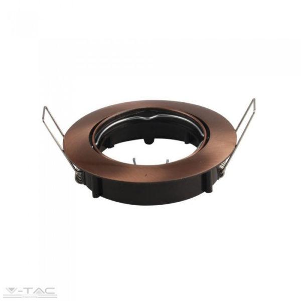 GU10 beépítőkeret bronz kör - 8580