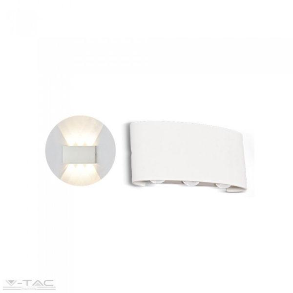 6W LED fehér fali design lámpa 3000K IP54 - 8613