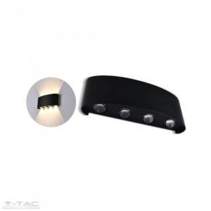 6W LED fekete fali design lámpa 4000K IP54 - 8616