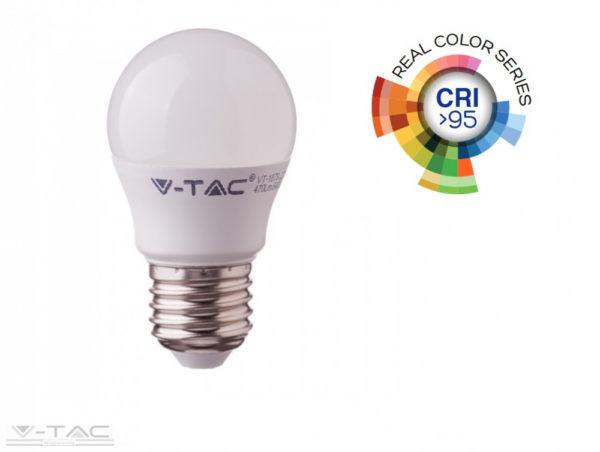 5,5W LED izzó CRI>95 E27 G45 4000K - 7493