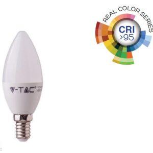 5,5W LED izzó CRI>95 E14 gyertya 2700K - 7494