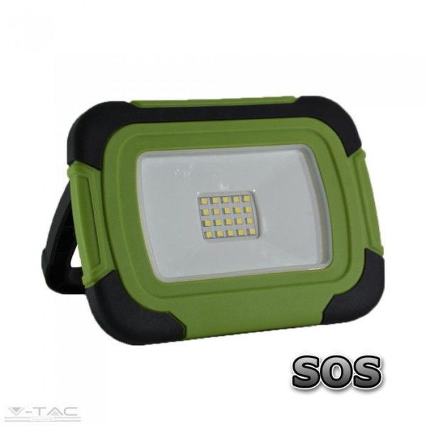 10W LED hordozható/újratölthető reflektor SOS funkcióval 4000K - PRO20038