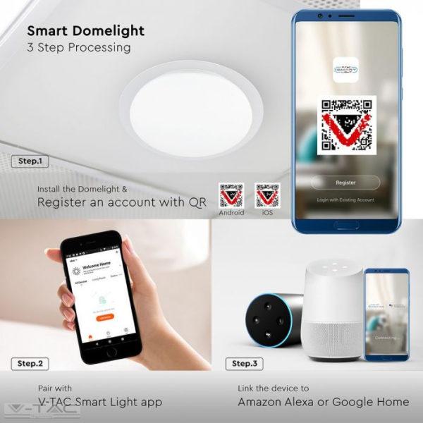 40W Wifis Smart LED mennyezeti design lámpa 3 in 1 - 1497