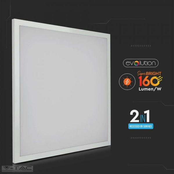 25W 2in1 LED Panel 600 x 600 mm 160 lm/W A++