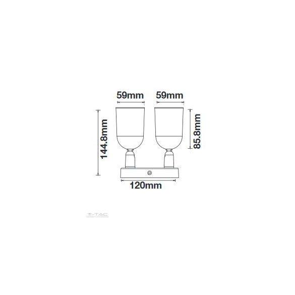Falon kívüli spot lámpatest (2xGU10) fehér - 7981