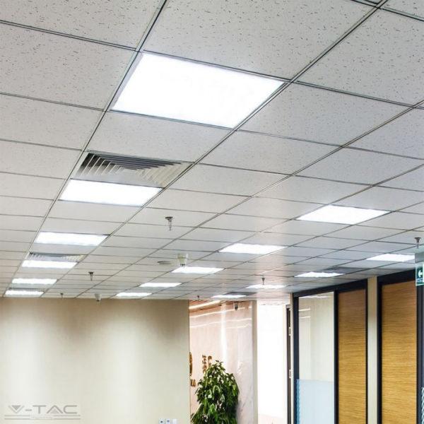 45W LED panel 600 x 600 mm-es 3600lm 6400K CRI>95 driverrel - 8088