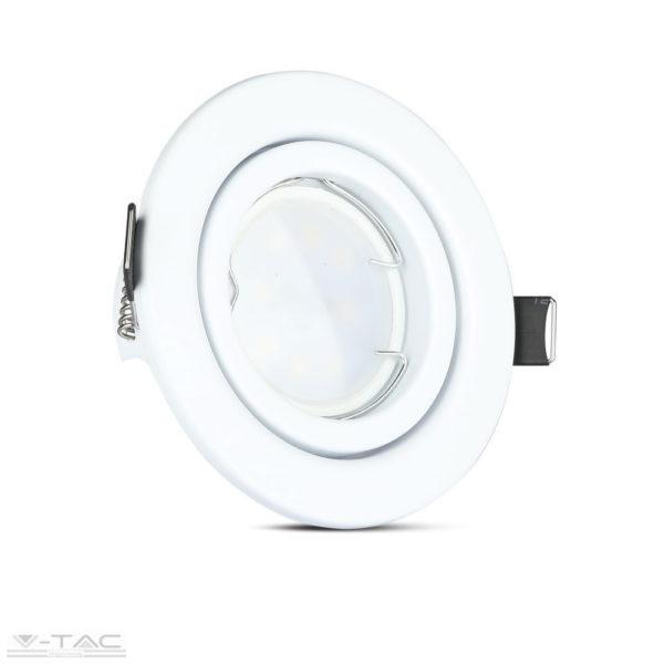 5w spotlámpa GU10 fehér kerettel és foglalattal (3db/csomag)