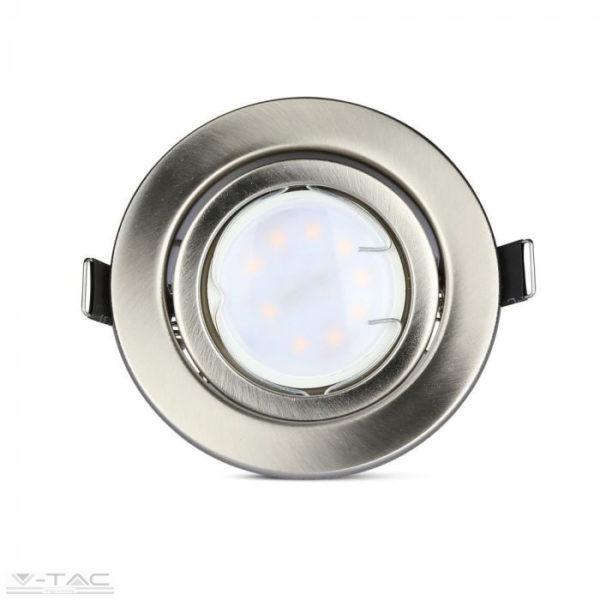 5w spotlámpa GU10 nikkel kerettel és foglalattal (3db/csomag)