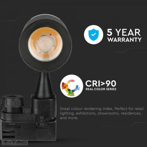 30W LED sines lámpa fekete Samsung chip