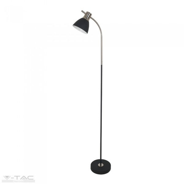 Állítható álló lámpa fekete/króm - 40421