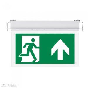 2W süllyeszthető fix LED vészkijárat jelző lámpa IP20 6000K - PRO835