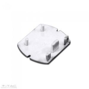 Kirakatvilágításhoz sín végzáró fehér - 3657