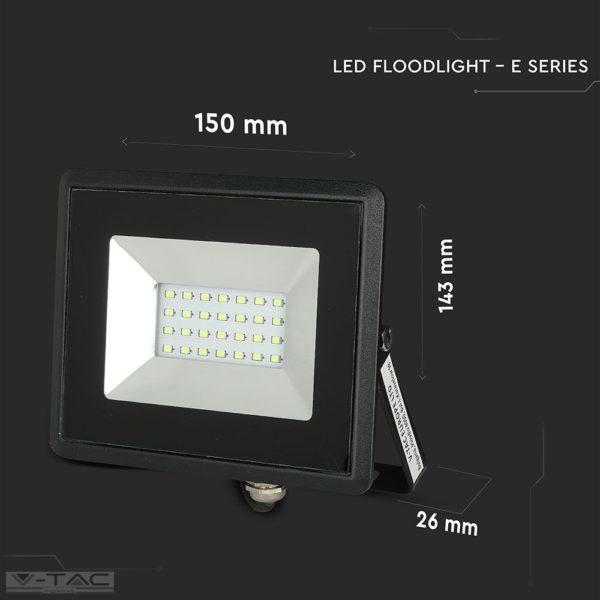 20W LED reflektor E-széria színes