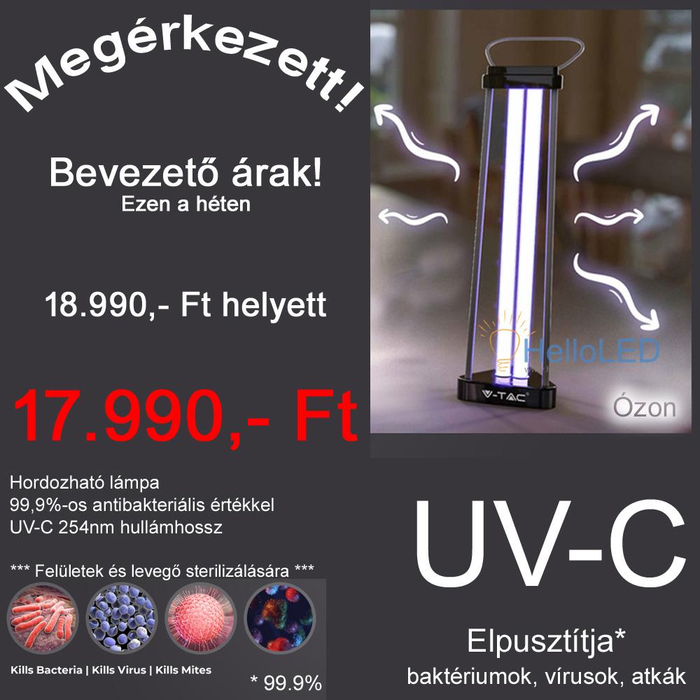 UV-C, ózon lámpa, fertőtlenít, sterilizál