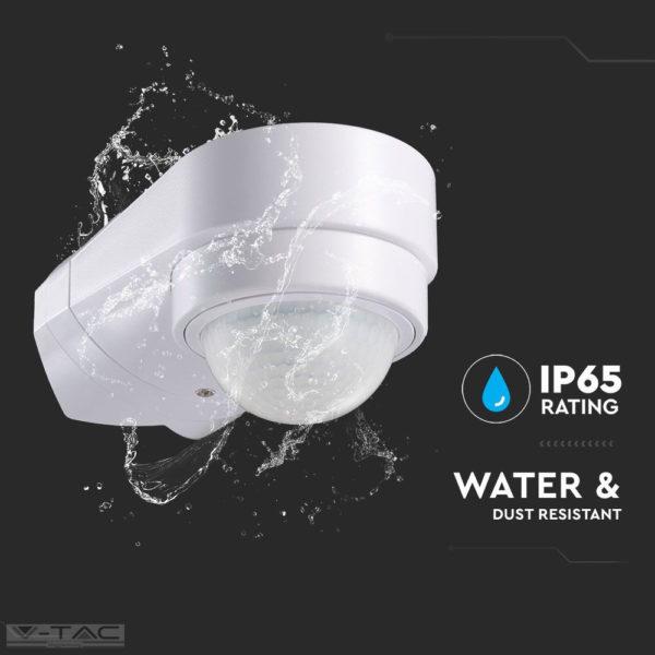 Infravörös Sarokba szerelhető mozgásérzékelő fehér IP65 - 6613