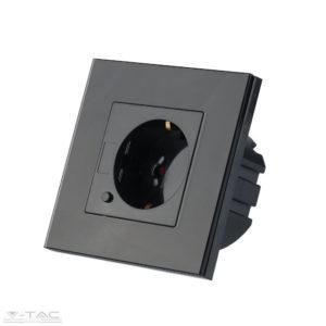 Smart wifis Fekete EU konnektor üveg panel 16A - 8797