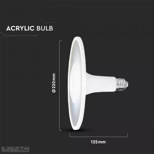 LED izzó akril UFO fényforrás