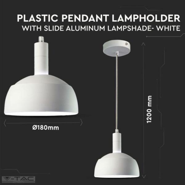 Fehér mozgatható búrájú design csillár E14 foglalattal - 3920