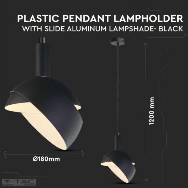 Fekete mozgatható búrájú design csillár E14 foglalattal - 3921