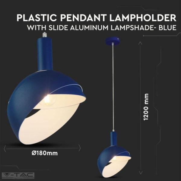 Kék mozgatható búrájú design csillár E14 foglalattal - 3925