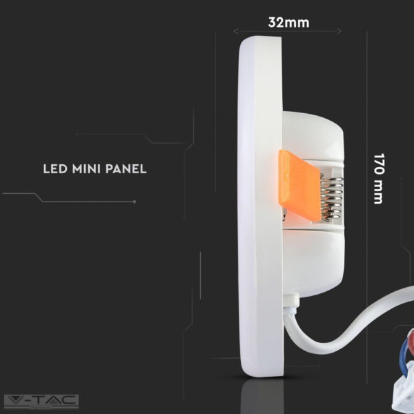 keret nélküli süllyeszthető négyszög (állítható) LED panel Samsung chip