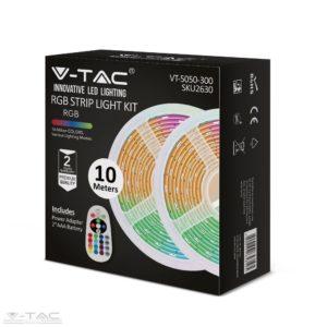 LED szalag szett 5050 30 LED/m RGB IP20 nem vízálló, 2x5m - 2630