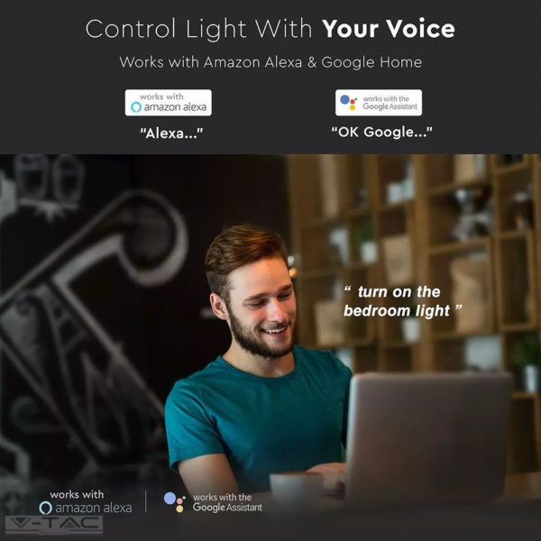 5W Wifis smart LED spotlámpa GU10 opál 100° CCT + RGB - 2757