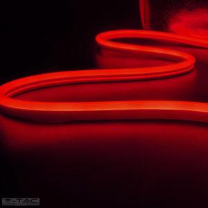 6,5W Piros Neon Flex oldalirányba hajlítható 24V IP68 - 2618