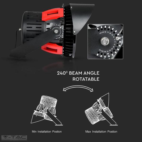 500w Dimmelhető Sport reflektor Samsung chip Meanwell tápegység 45°