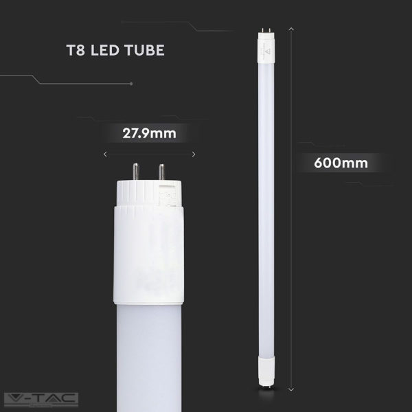 9W LED fénycső T8 60 cm A++ forgatható