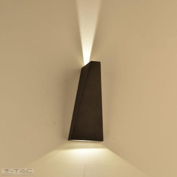 6W LED fali lámpatest fekete IP65