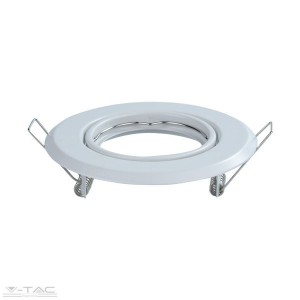 GU10 beépítőkeret fehér 2db/csomag kör - 8938