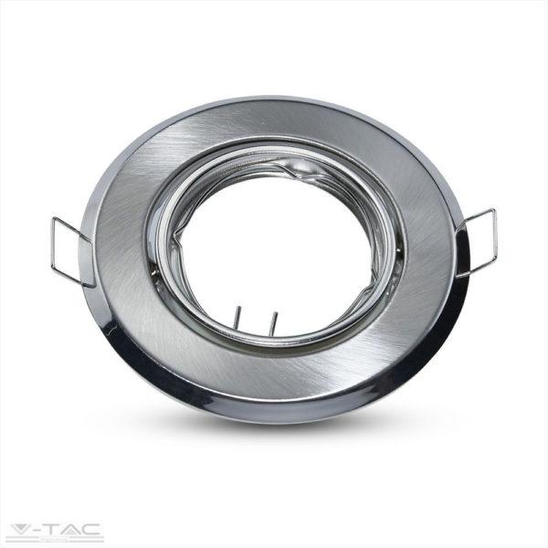 GU10 beépítőkeret nikkel 2db/csomag kör - 8939