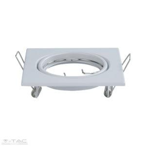 GU10 beépítőkeret fehér 2db/csomag négyszög - 8941