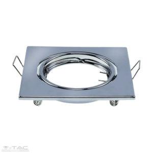 GU10 beépítőkeret króm 2db/csomag négyszög - 8943