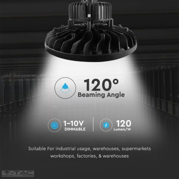 100W LED csarnoklámpa Samsung chip 120lm/w A++ 120°