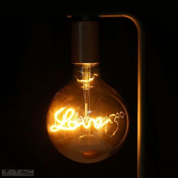 Love Retro LED izzó - 5W Filament E27 G125 2200K - 2700