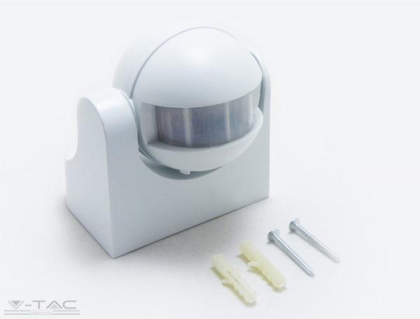 Infravörös Fali mozgásérzékelő fehér manuális felülíró funkcióval IP44 - 1354