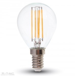Retro LED izzó - 4W Filament E14 P45 4000K - 4425