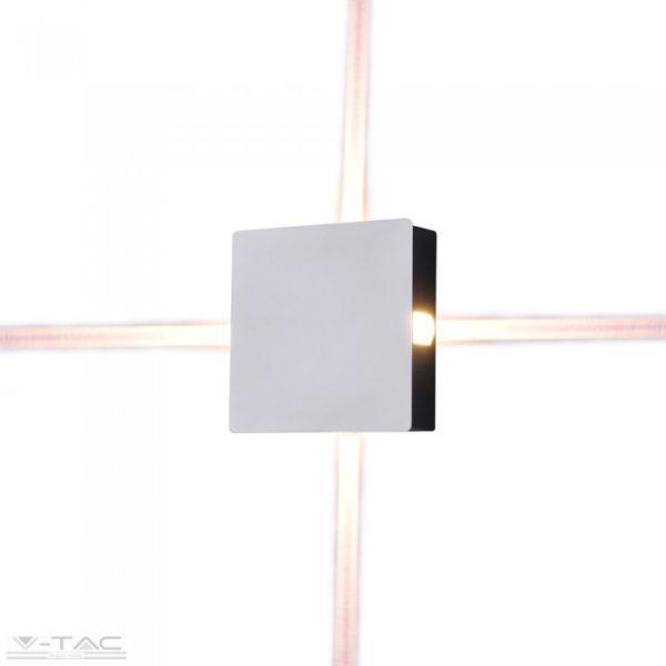 4W LED design szögletes fali lámpa fehér IP65 3000K - 8209